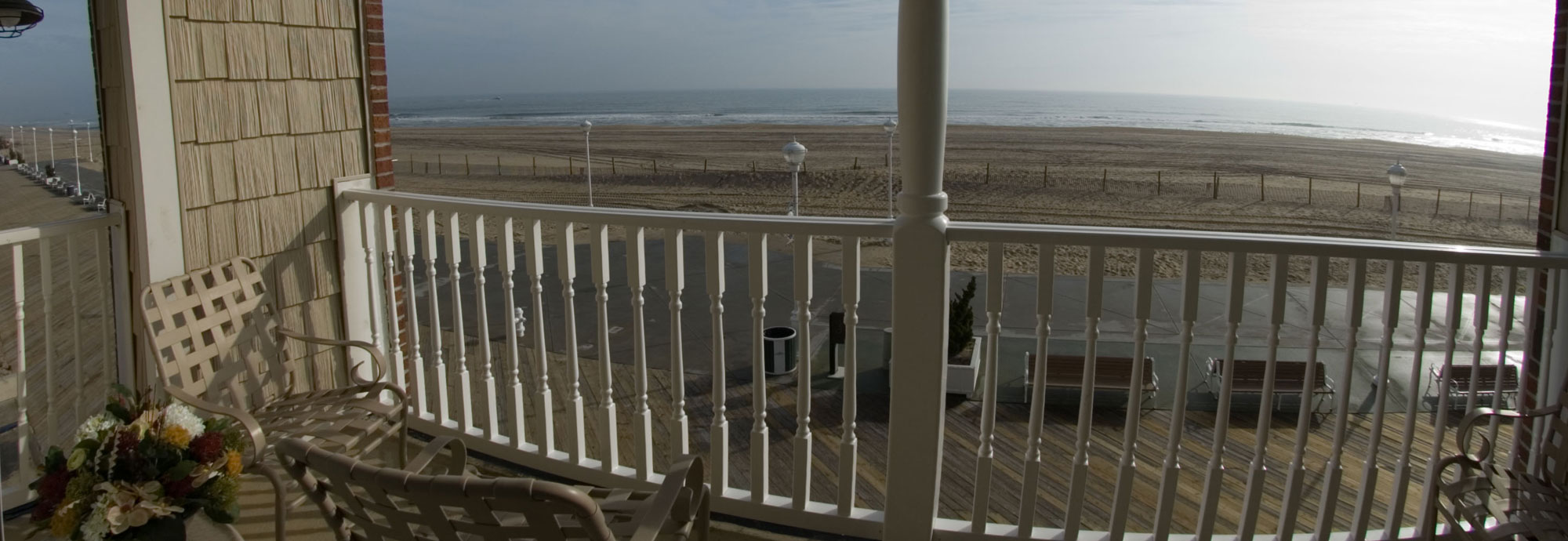 Oceanfront Balcony on the Boardwalk in Ocean City, MD