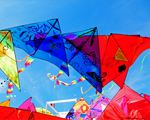 Kites in the Air in Ocean City, MD